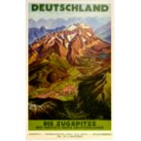 Travel Poster The Zugspitze Highest Peak of Germany