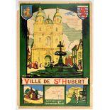 Travel Poster Ville De St Hubert Travel Luxembourg Belgium