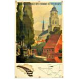 Travel Poster Lierre Belgium National Railway Verbaere