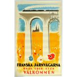 Travel Poster French Railway Welcome Back
