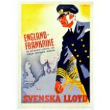 Travel Poster Svenska Lloyd Swedish Lloyd Shipping Travel