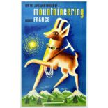 Travel Poster Mountaineering France