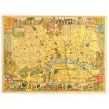 Travel Poster Children's Map of London Folded