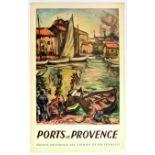 Travel Poster Ports de Provence SNCF Railway France