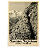 Travel Poster Schweizer Bergbahn Swiss Railway