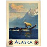 Travel Poster Alaska Northern Pacific Railway Potlatch
