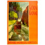 Travel Poster Gota Canal Sweden's Most Beautiful Tourist Route
