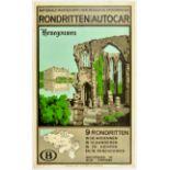 Travel Poster Hainaut Belgium Tours By Coach