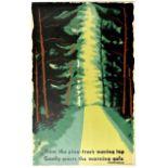 Travel Poster London Underground Pine Trees McKinght Kauffer