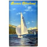 Travel Poster Berner Oberland Sailing Switzerland