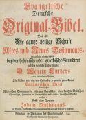 Biblia germanica.Biblia germanica. Evangelische Deutsche Original-Bibel. Das ist: Die gBibl