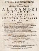 Calamatus,A.Calamatus,A. Stella Concionatorum... In septem tractatus divisum... Tle. 1-Cala