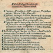 Beroaldus,P.Beroaldus,P. Varia opuscula. Basel, (Adam Petri) 1515. Kl.4°. 160 (von 162Bero