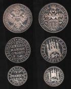 Göttingen. Feinsilber - Nachprägung (1000 / 000)von 1973: Göttingen Taler von 1659. Vorderseite: