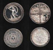 Braunschweig. Feinsilber - Nachprägung(1000 / 000) aus dem Jahr 1976: Glückslöser zu 1 1/4