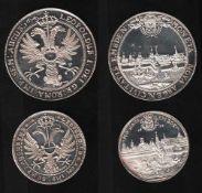 Emden. 2 Feinsilber - Nachprägungen (1000)aus den Jahren 1974 und 1976: Emden - Taler von 1674 und