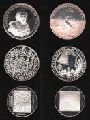 Braunschweig. Nachprägung aus Feinsilber(1000) aus dem Jahr 1979: Schaumünze von 1666. Herzog August