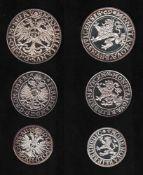 Braunschweig. 3 Feinsilber - Nachprägungenaus den Jahren 1974 - 1980: Braunschweig - Taler von 1569;