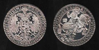 Hildesheim. Feinsilber - Nachprägung (999,9)aus dem Jahr 1980: Hildesheim - Schautaler (1600 - 1618,