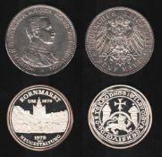 Deutsches Reich. Silbermünze. 5 Mark.Wilhelm II., Deutscher Kaiser. A 1914. Vorderseite: Porträt