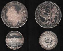 Braunschweig. Nachprägung aus Silber(1000 / 000) aus dem Jahr 1977: 1 1/2-facher Julius - Taler