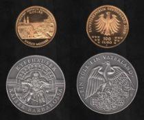 Deutschland. Goldmünze (999,9). 100 Euro.UNESCO Welterbe Altstadt Goslar - Bergwerk Rammelsberg.
