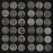 DDR. 18 Münzen à 5 Mark.Kupfer - Nickel - Zink. Gedenkmünzen. VEB Münze der DDR Berlin 1985 -