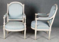 Paar Louis XVI-Fauteuils