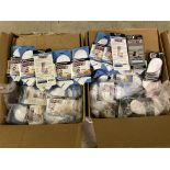 500+ packs of New Socks, Wrightsock Running and Coolmesh, Double Layer, White w. Various Stripes