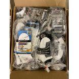250+ packs of New Socks, Wrightsock Coolmesh & Running, Double Layer, USA America Flag, White/Black