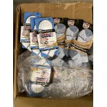 250+ packs of New Socks, Wrightsocks Running and DLX, Double Layer, White and Gray