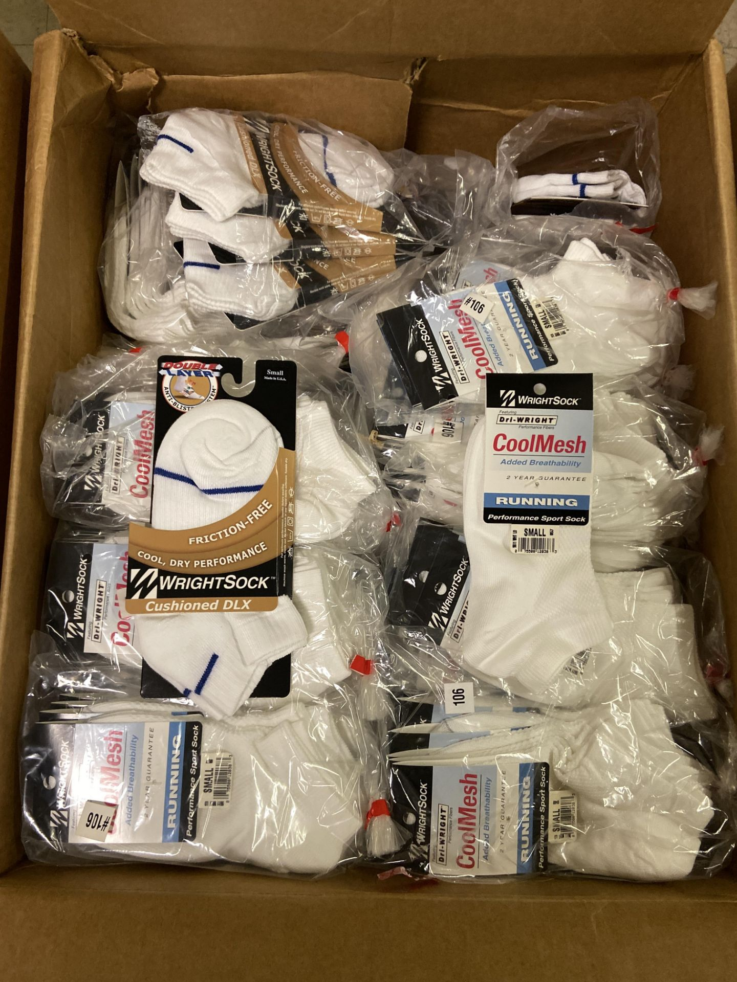 500+ packs of New Socks, Wrightsock Various Styles, Double Layer, Various Colors White/Black/Etc - Image 5 of 7