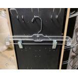 1000 Clear Plastic Retail Hangers, Pant Hangers