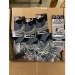 250+ packs of New Socks, Wrightsocks Coolmesh, Double Layer, Black/Gray