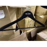 350+ New wood Black Hangers in Boxes