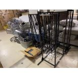 Lot of Retail Fixtures, Black Display stands, hang units, Security Sensors *Las Vegas Pick up Only