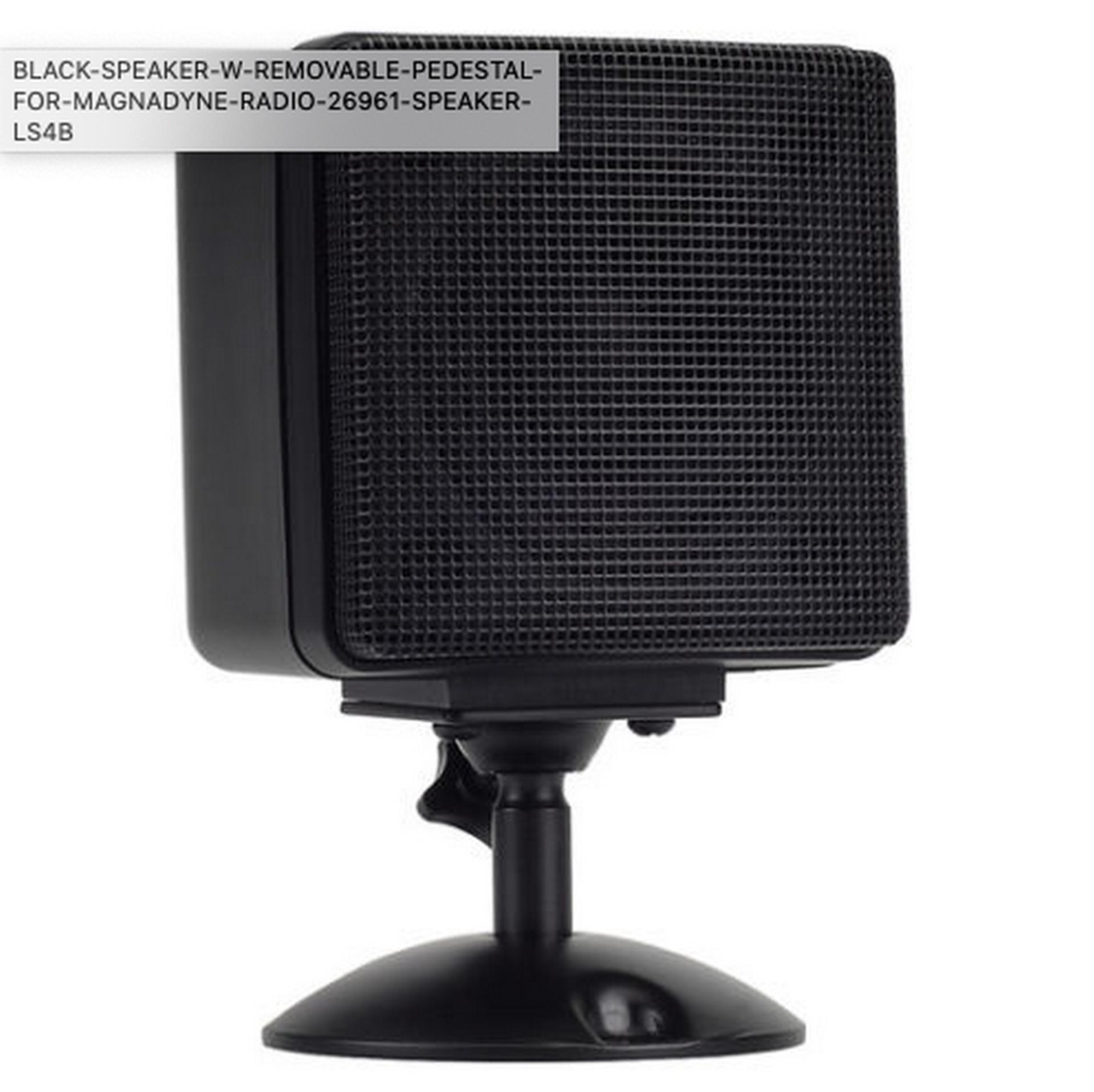 """Lot 191 - 10 SINGLE SPEAKER BLACK SPEAKER W/ REMOVABLE PEDESTAL MODEL 26961 3"""" Satellite Speaker (Black)"""