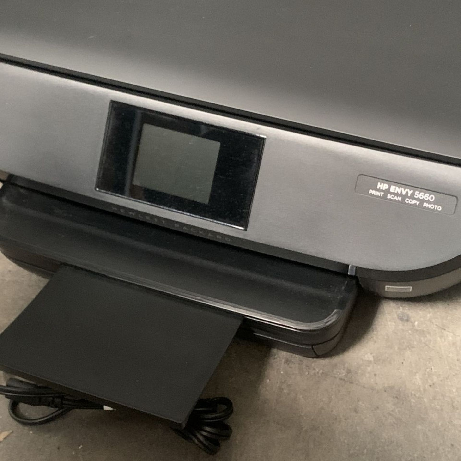 Lot 187 - HP ENVY 5660 All in One Printer Scanner Copier Photo, Flatbed Scanner, Energy Star