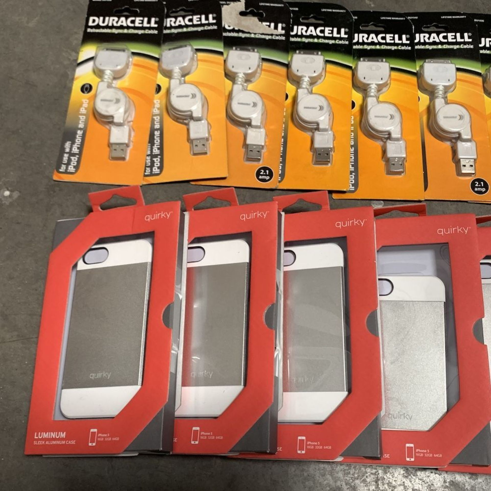 Lot 193 - Lot of 22 iPhone Cases, Chargers, and Phone Armband Accessories
