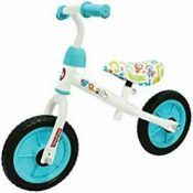 "Fisher Price Balance Bike 3+ Years Old - 10"" White And Blue New In Box"