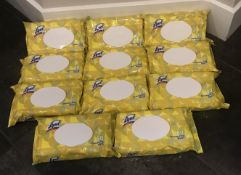 LOT OF 11 LYSOL DISINFECTANT WIPES 80 PER PACKAGE LEMON AND BLOSSOM SCENT