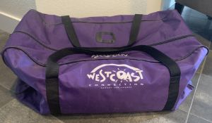 "LARGE BRANDED TRAVEL DUFFLE BAG APPROX 32""X12""X12"""