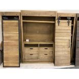 BEAUTIFUL LARGE ENTERTAINMENT UNIT $6000 VALUE WITH BARN STYLE DOORS