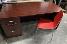LARGE OFFICE DESK WITH CHAIR