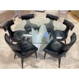 GLASS MODERN DINNING TABLE AND CHAIR SET