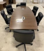 LARGE CONFERENCE TABLE WITH CHAIRS