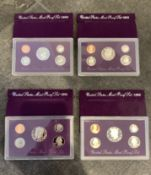 1998 1991 1992 1993 UNITED STATES MIN PROOF COIN SETS