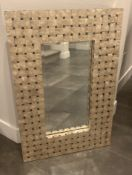 """LARGE 36X24"""" FRAMED MIRROR OYSTER PEARL TEXTURED FRONT"""