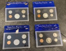 1969-1972 UNITED STATES COIN PROOF SETS