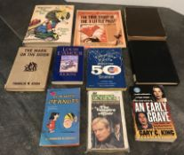 LOT OF ASSORTED BOOKS NOVELS AND CHILDREN'S